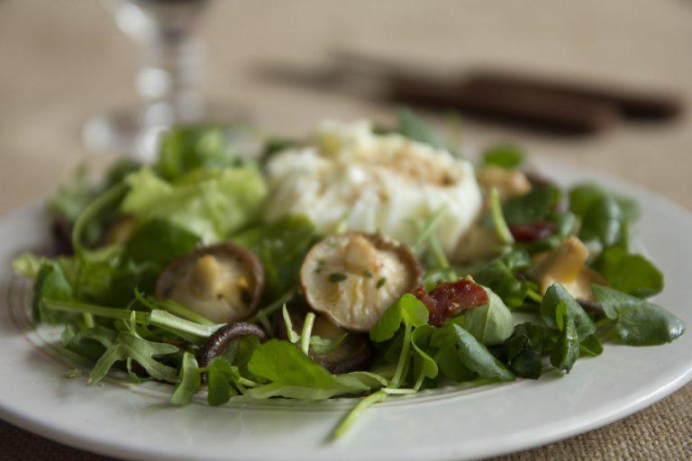 Salada de Agrião com Cogumelos Shiitake