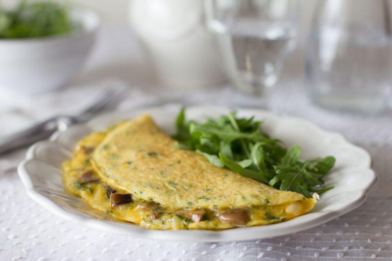 Omelete de Cogumelos Shiitake - Casa do Chascada