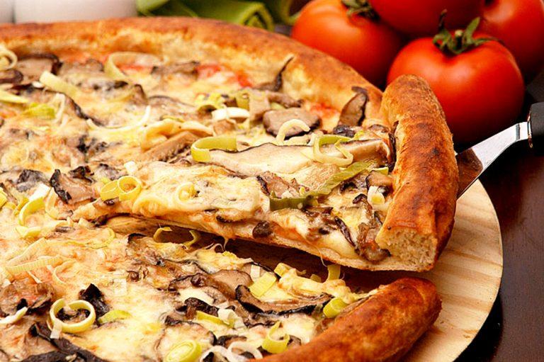 Receita Pizza Cogumelos Shiitake